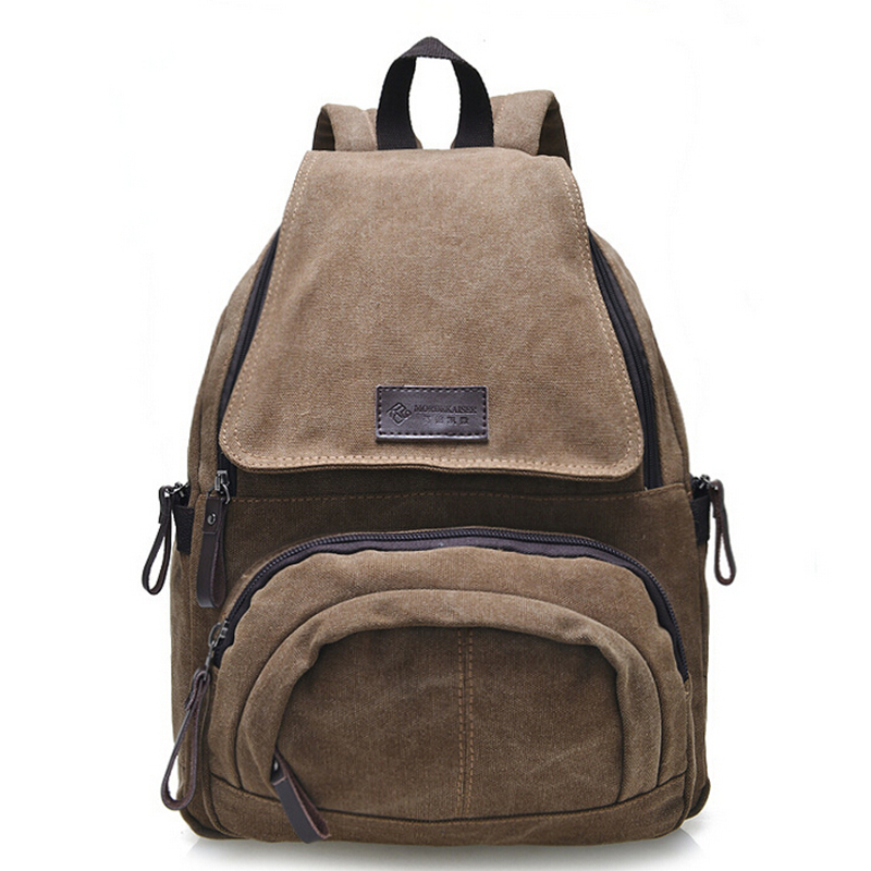 0319f9b33 Get Quotations · New Preppy Style Men Canvas Backpack Khaki Students School  Bag For Teenagers Rucksack Casual Travel Shoulder