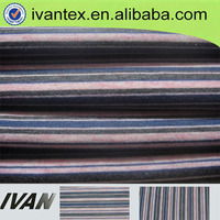 wholesale poly spun yarn color stripe fabric