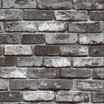 Roll Coal Grey Bricks Stone Texture Realistic Real Look Wallpaper Buy White Brick Wallpaper 3d Stone Wallpaper Natural Stone Wallpaper Product On