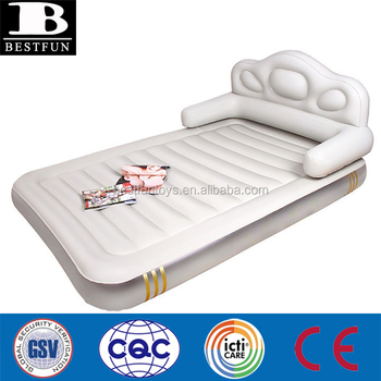 Heavy Duty Flocked Inflatable Sofa Bed Air Mattress Druable Comfortable Outdoor Camping Up Double Airbed