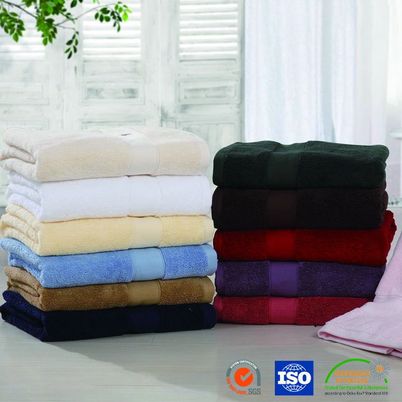 Promotion Bamboo Fiber Solid Color Bath Towel