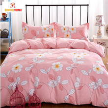 Adult Queen Cotton Sheets Printed Bed Linen Set Bedding