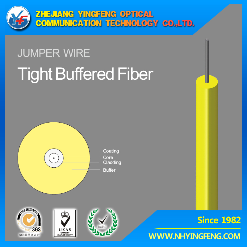 Fiber cable 0.9mm optical cable LSZH PVC Nylon SM MM OM3 OM4 Tight buffered fiber Indoor cable