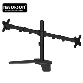 Cheap price mount monitor and laptop gas spring 2 monitor mount dual