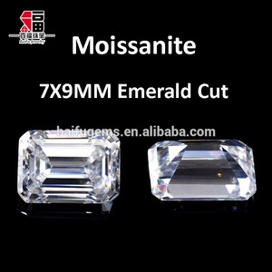 competitive prices simulate diamonds white D-E color VVS1 7X9mm engagement ring emerald cut diamond