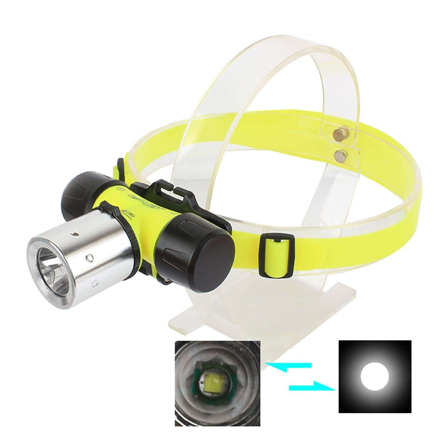 Xm-l T6 Led Diving Waterproof Underwater Flashlight Lamp Torch 3 Mode Super T6 Led 2000lm 2*18650 Batteries Charger