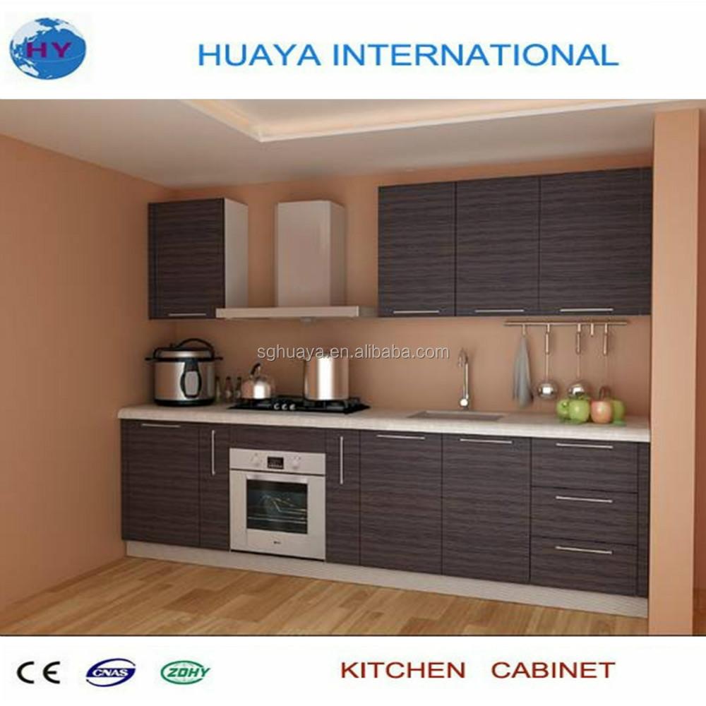 Melamine Kitchen Cabinets Modern Style Balck Color Melamine Kitchen Cabinetcheaper Price