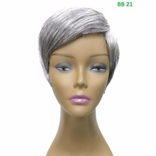 "Short Straight 9"" Light High Quality New Fashion Movie Star Deluxe Light weighted Natural texture Full Wig"
