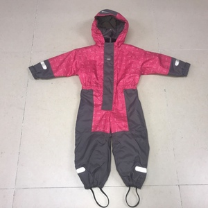 300D oxford with PU coating children kids winter warmer overall