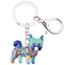 Брелок для ключей Bonsny, эмалированный, для йоркширской собаки, новинка 2017, украшения для женщин, сумка, подвеска, автомобильный держатель для ...(Китай)