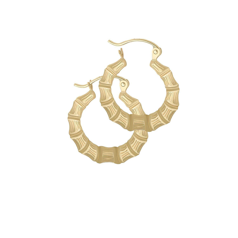 b144bd8674834 Cheap 14k Gold Bamboo Hoop Earrings, find 14k Gold Bamboo Hoop ...