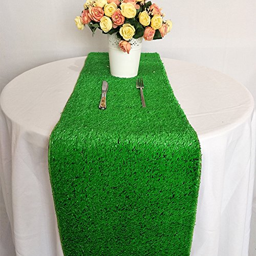 "Luchuan Artificial Grass Table Runner For Table Decoration (12 ""x 108"")"