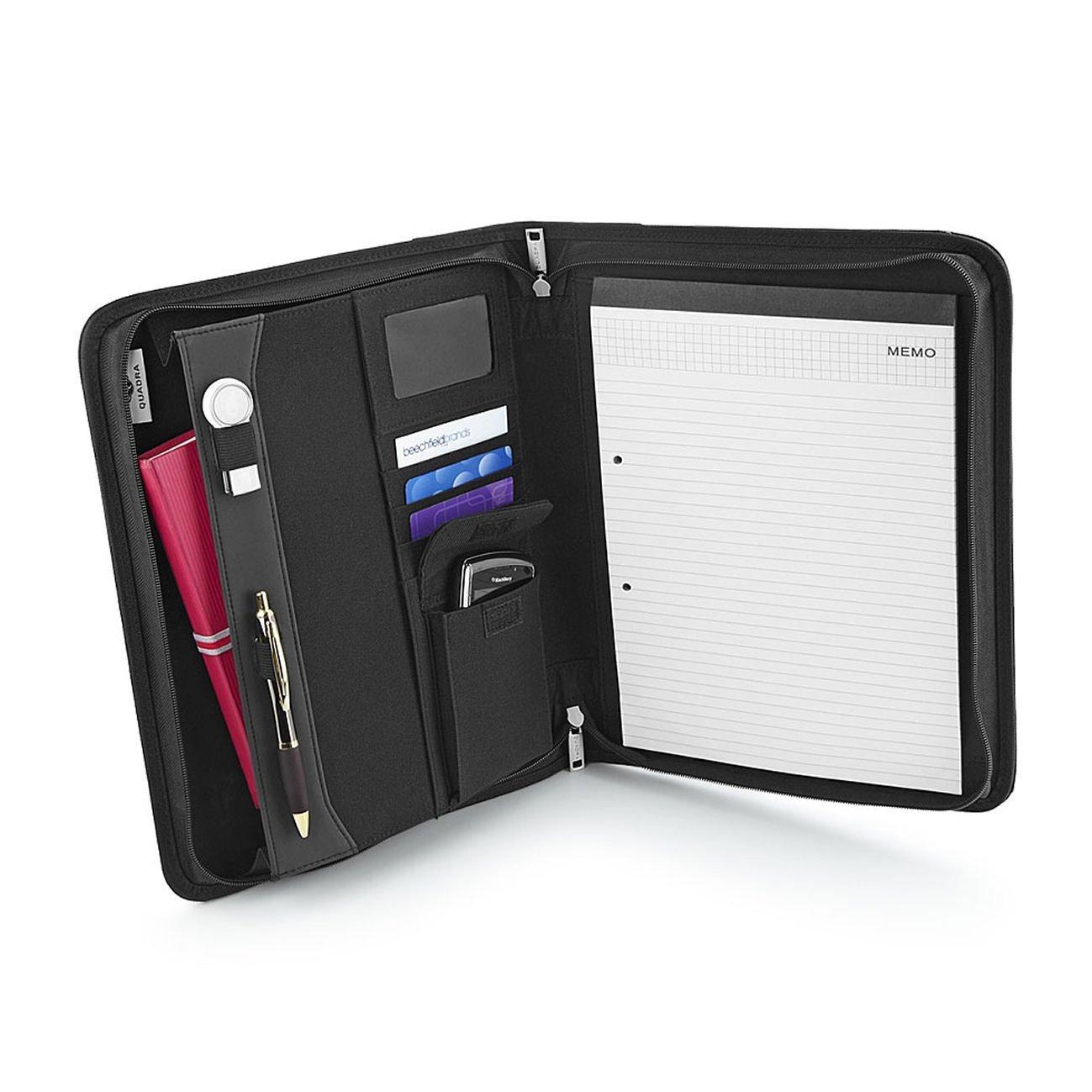 Quadra Burbank Zipper Portfolio, A4 Writing Pad