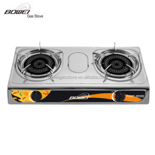 Competitive price super flame stainless steel 2 burner gas stove