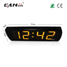 "[GANXIN]4"" 4"" Home Use GPS Led Digital Clock With Timer Sports Race Timer Clock with CE ROHS Time Temperature"