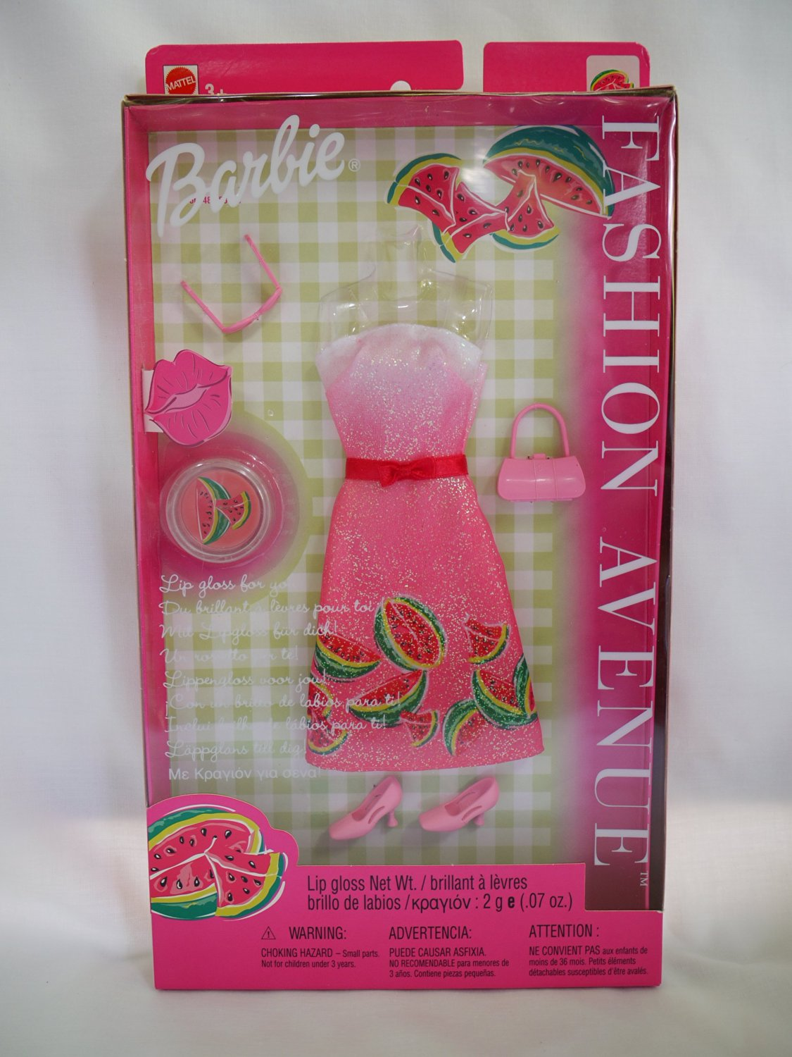 Barbie Outfit Fashion Avenue Watermelon with Lip Gloss