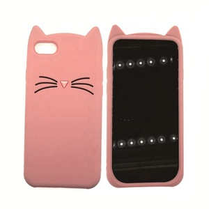 Sedex Factory silicone phone cover for iphone6/7/8/X/XR cat design silicone phone cover