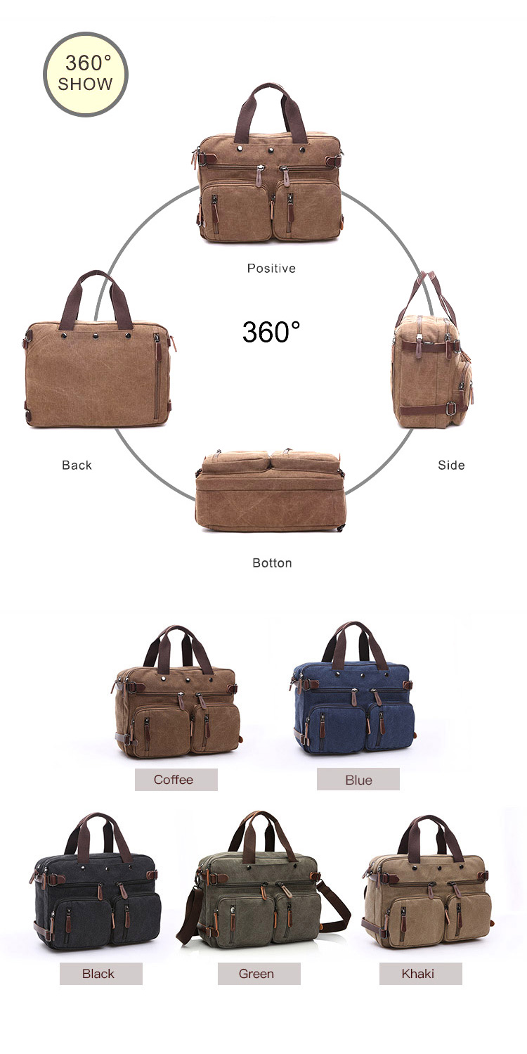 Top quality large capacity work canvas handbags tote custom shoulder vintage luggage hand bag men handbag messenger bag for men