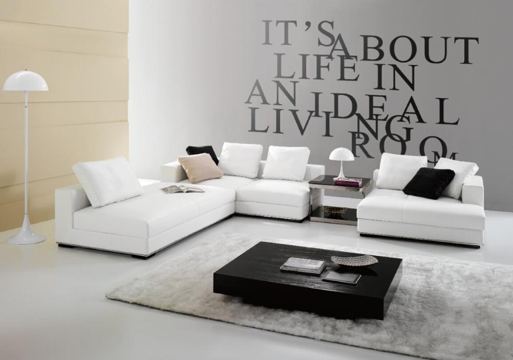 moderne edel elegant wei leder couch sofa italienische sofa wohnzimmer sitzgruppe wohnzimmer. Black Bedroom Furniture Sets. Home Design Ideas