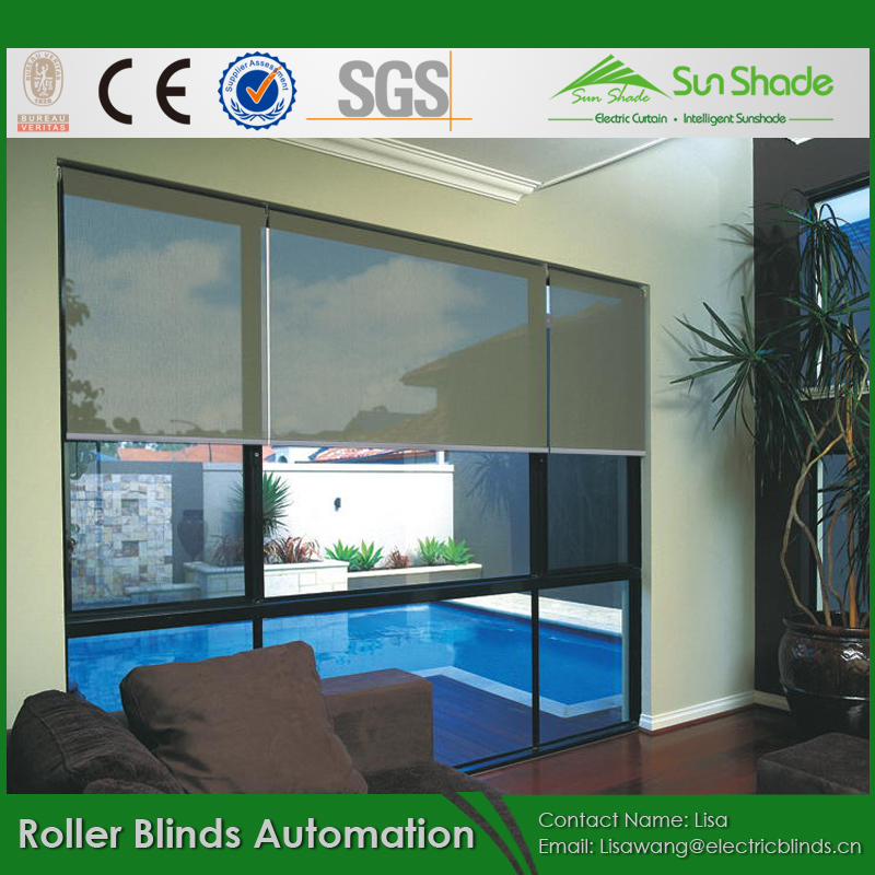 Battery or Tubular motor operated Roller Blinds Automation for Smart home
