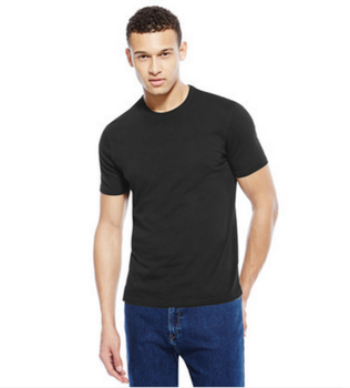 107d91573202fa High end customized short sleeve mens black plain t-shirt, View ...