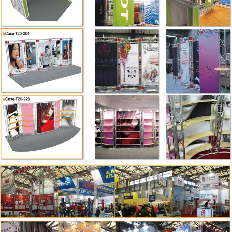 Modular Exhibition Stands Zone : Professional photo exhibition stands display modular trade show
