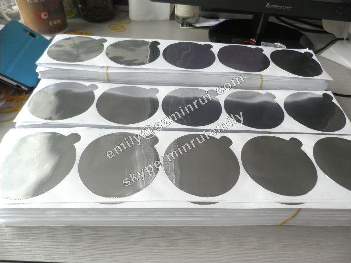 Custom Blank Die Cut Aluminium Foil Labels For Cosmetic
