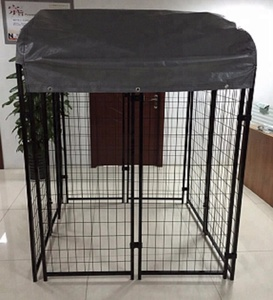 4 ft. x 4 ft. x 6 ft. Welded Wire Dog Fence Kennel