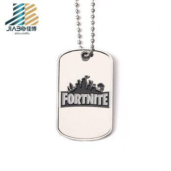 cheap custom engrave logo blank dog tags necklaces