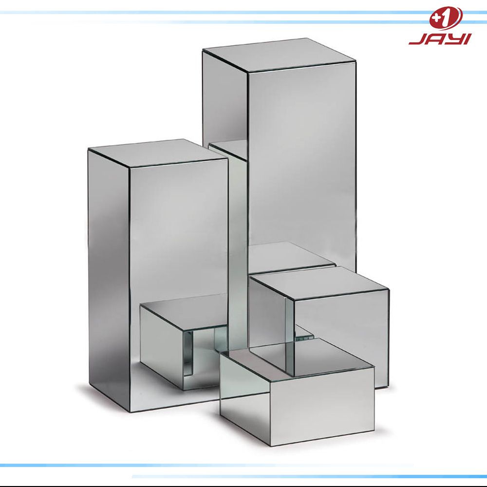 Custom acrylic mirror pedestal stand for wedding clear for Mirror stand