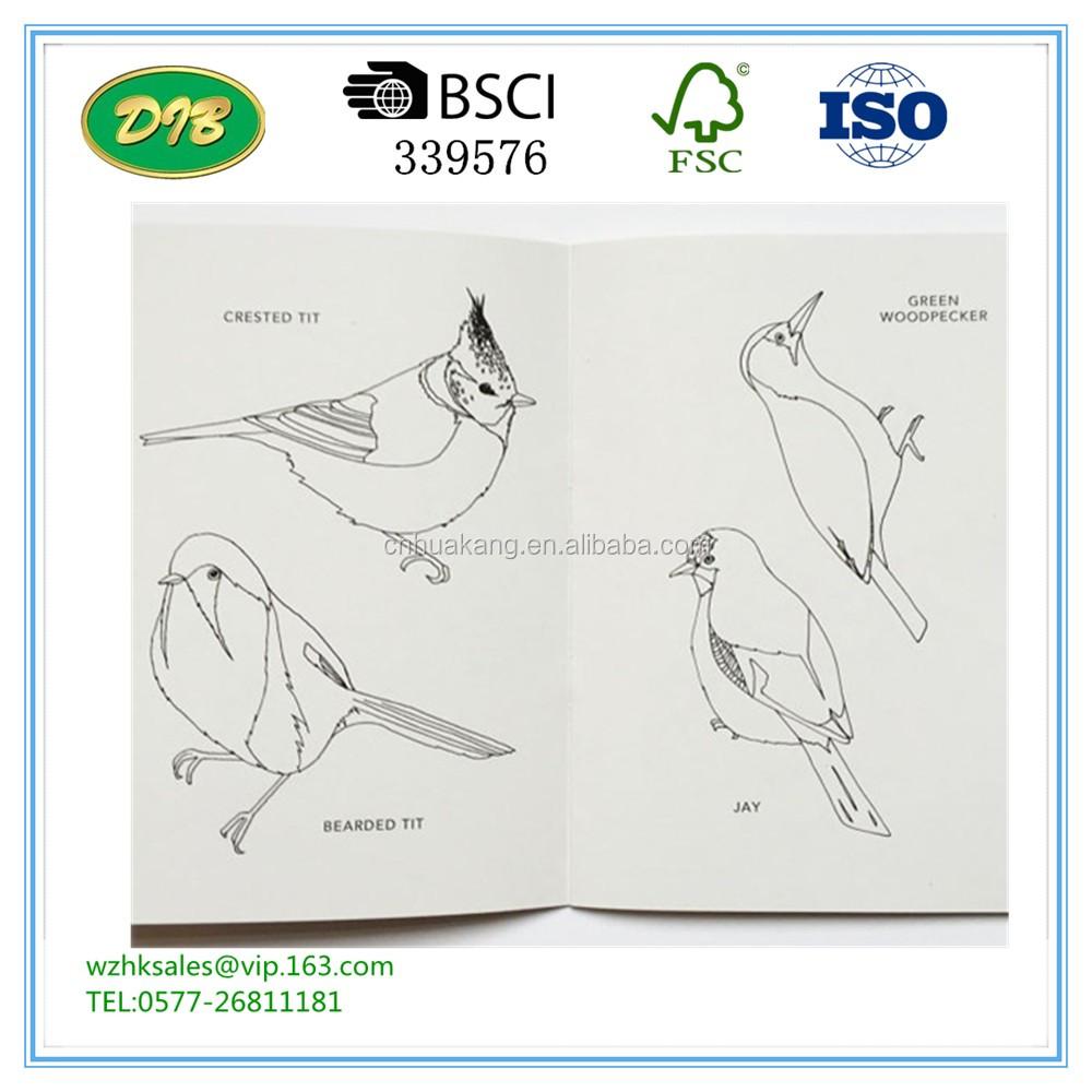 Kuşlar Boyama Kitabıkuş Boyama Kitabı Geri Dönüşümlü çevre