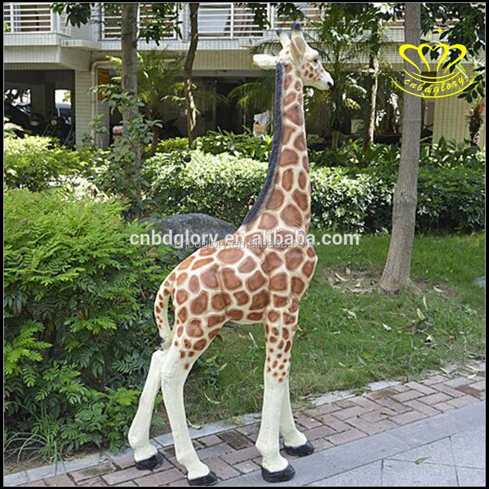 Hot sales outdoor decor fiberglass Animal giraffe sculpture