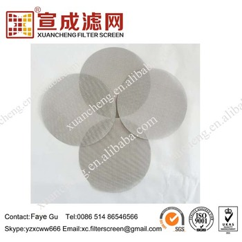 24/110 Filter Cloth Packs For Plastic Extruder For Sheets
