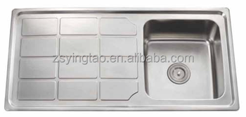 Kitchen Sink With Dish Drainer Forms Double Bowl Yts10050d