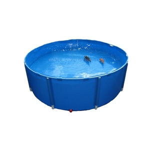 Foldable tarpaulin fish farming breeding water tank for sale