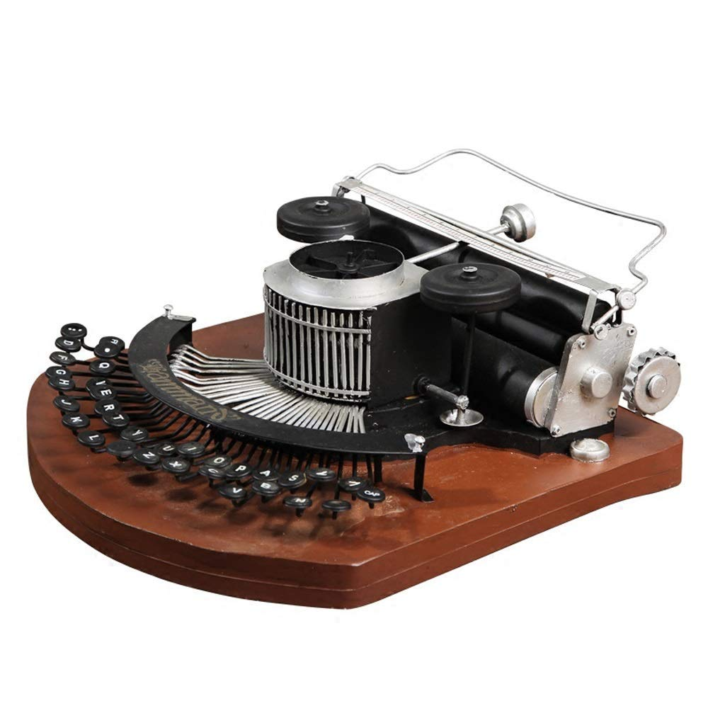 Crafts - Retro Vintage Typewriter Model Crafts Home Creative Multi-Functional Decoration [Size: 27.5cmx30cmx14cm]