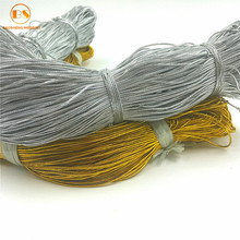 Factory Supply Gold Lurex Elastic Yarn Cord For Hanging Tag
