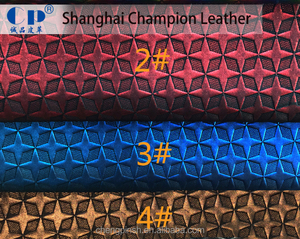 Fashion synthetic pvc Leather for bags and shoes