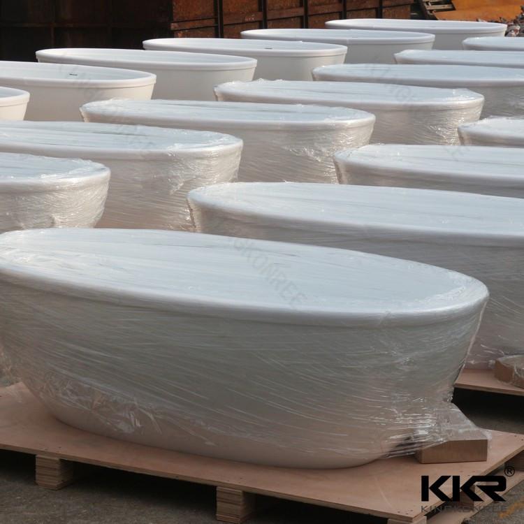 Acrilico freestanding vasca da bagno bianco 140 cm 150 cm ...