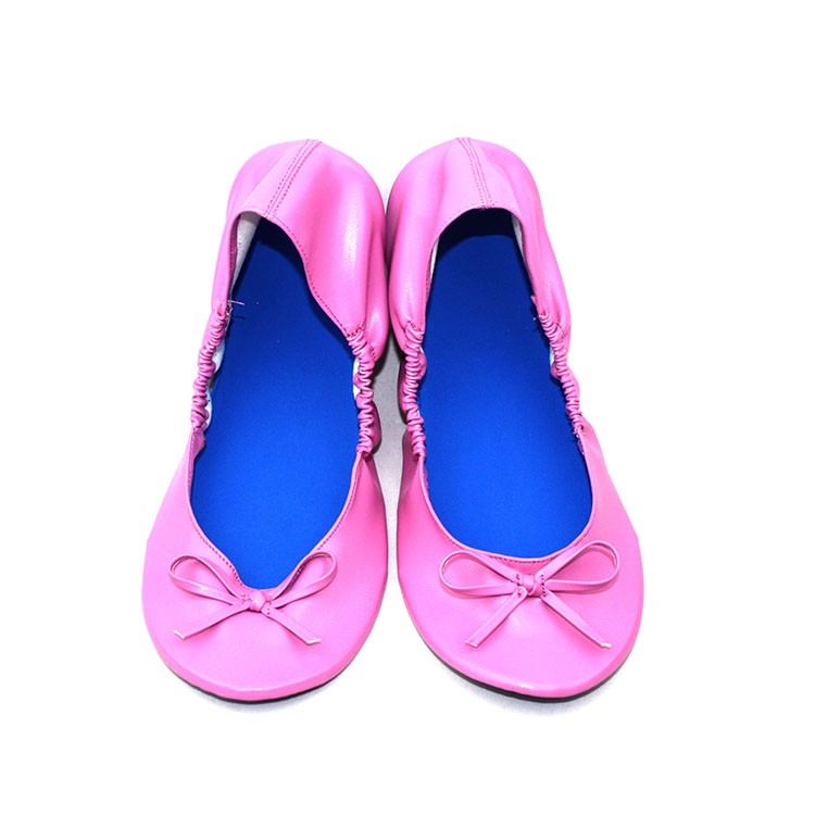 Fashionable cheap ladies wedding roll flat zapatillas ballerina shoes
