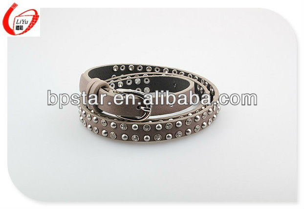 round metal stud belts with apricot color