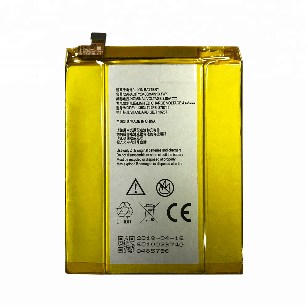 Li3934T44P8h876744 Battery For ZTE ZMAX PRO Z981, View Battery For ZTE  Grand X MAX 2 Z988, OEM Product Details from Guangzhou Yogurt Electronic  Co ,