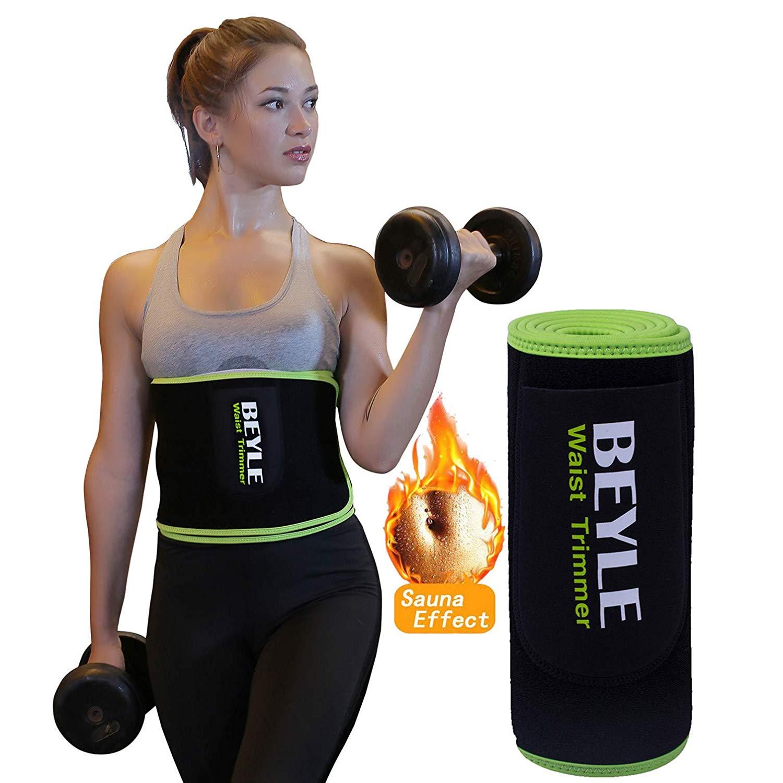 Waist Trimmer, Beyle Waist Trainer Corset for Weight Loss, Adjustable Stomach Wraps Sweat Vest Waist Eraser for Women&Men, Sauna Belt Stomach Fat Burner, Best Abdominal Trainer
