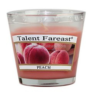 Soy Peach Scented Candles in Glass