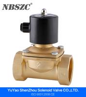 2/2 way 2 inch water gas oil brass solenoid valve