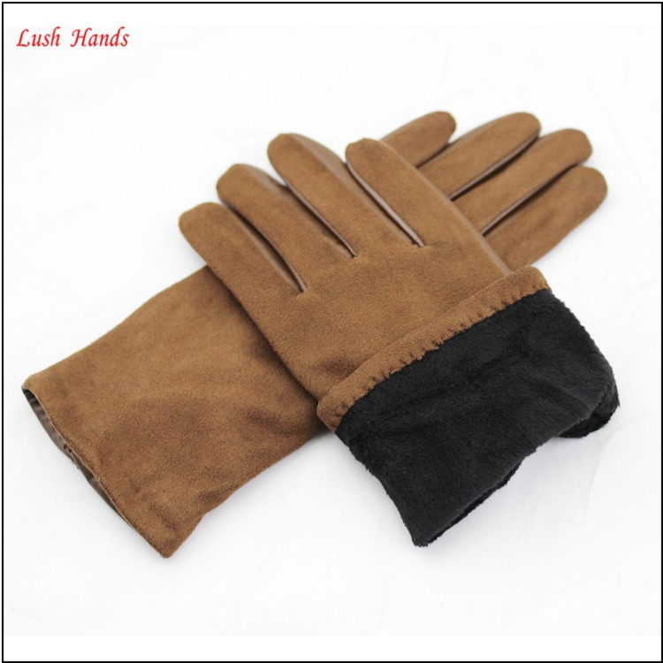 ladies wholesale winter leather hand gloves brown sexy dresses leather gloves