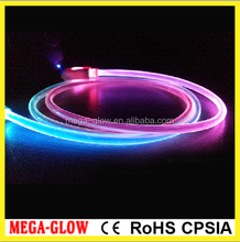 New item!!! Fashion Gradually varied colors LED USB cable(round cable)