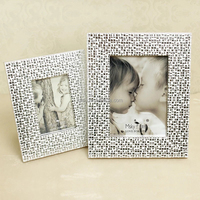 Intco new arrival metal texture photo frame