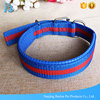 Pet Products Supplies Soft Padded Striped Pet Collar For Large Dogs