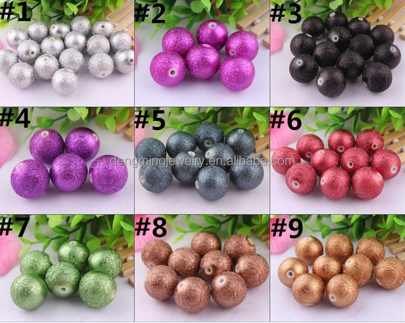 Random Mix Colorful Color AAA Quality Acrylic Pearl Stardust Beads for Bracelet Necklace Jewelry Wholesales Price 20mm Stock